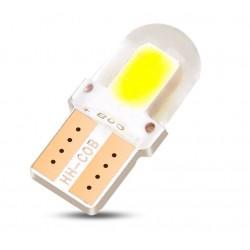Żarówka LED W5W T10 2 COB 4-Chip Silikon krótka
