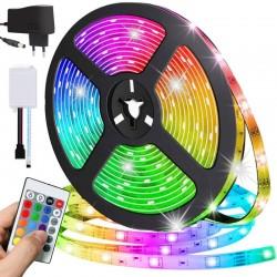 Wodoodporna taśma LED RGB 5 metrów zasilacz 230V 300 diod...