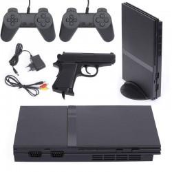 Retro konsola do gier TV 2 pady + pistolet 16 wbudowanych...