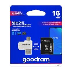 GoodRam karta pamięci microSDHC 16GB klasa 10 UHS I...