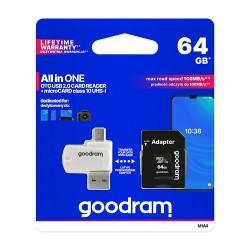 GoodRam karta pamięci microSDHC 64GB klasa 10 UHS I...