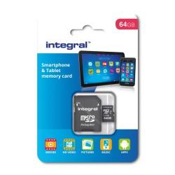 Integral karta pamięci 64GB microSDHC/XC Class 10 UHS-I U1