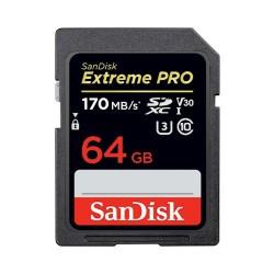 SANDISK KARTA EXTREME PRO SDXC 64 GB 170/90 MB/s V30...