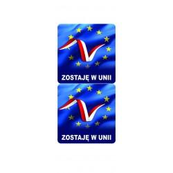 NAKLEJKA ZOSTAJĘ W UNII flaga unii europejskiej auto tatuaż