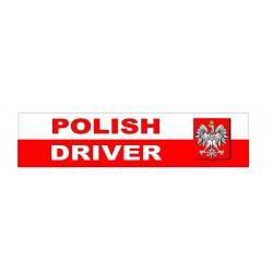 NAKLEJKA POLISH DRIVER auto tatuaż
