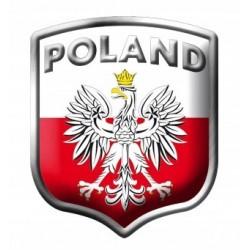 NAKLEJKA ALU POLSKA POLAND ORZEŁ tarcza 3D CHROM 2/33281