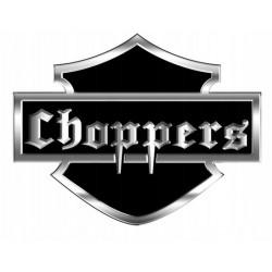 NAKLEJKA ALU EMBLEMAT CHOPPERS chopper 3D CHROM