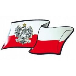 NAKLEJKA ALU POLSKA FLAGA ORZEŁ