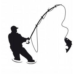 NAKLEJKA hobby WĘDKARZ ryba auto tatuaż