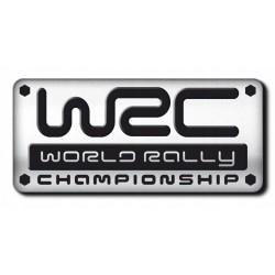 NAKLEJKA ALU EMBLEMAT WORLD RALLY WRC 3D CHROM