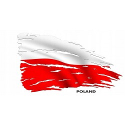 NAKLEJKA FLAGA POLSKA auto tatuaż