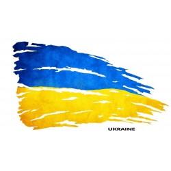 NAKLEJKA FLAGA UKRAINA auto tatuaż
