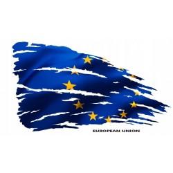 NAKLEJKA FLAGA UNIA EUROPEJSKA auto tatuaż