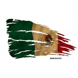 NAKLEJKA FLAGA MEKSYK auto tatuaż
