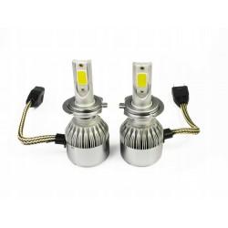 ZESTAW H7 LED COB 72W 8000 lm żarówki DZIEŃ/NOC