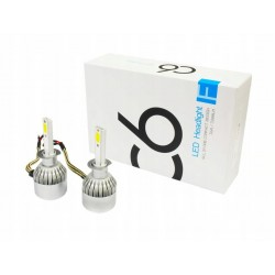 ZESTAW H1 LED COB 72W 8000 lm żarówki DZIEŃ/NOC