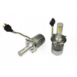 ZESTAW H4 LED COB 72W 8000 lm żarówki DZIEŃ/NOC