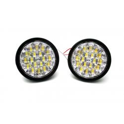 Światła LED do jazdy dziennej okrągłe 90 mm DRL 10