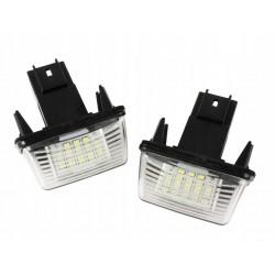 Podświetlenia tablicy rejestracyjnej LED PEUGEOT 206 207...