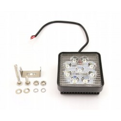 Lampa robocza 27W 9-32V kwadratowa