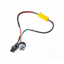 Filtr LED CAN BUS oprawka W21W T20 canbus