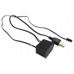 INVERTER PRZETWORNICA DO ŚWIATŁOWODU EL WIRE USB