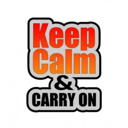 NAKLEJKA KEEP CALM & CARRY ON auto tatuaż