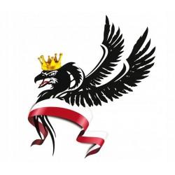 NAKLEJKA ORZEŁ W KORONIE HUSARZ FLAGA LEWA TIR auto tatuaż