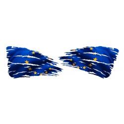 NAKLEJKA FLAGA UNIA EUROPEJSKA lewa + prawa