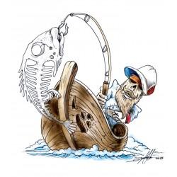 NAKLEJKA FISH BONES CRAZY BONE auto tatuaż