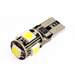 Żarówka samochodowa LED W5W T10 5 SMD 5050 CANBUS
