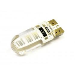 Żarówka samochodowa LED W5W T10 1W COB 360st CANBUS Silikon