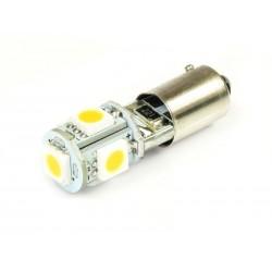 Żarówka samochodowa LED BA9S 5 SMD 5050 CANBUS Biała ciepła