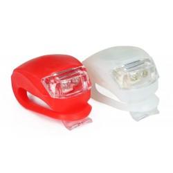 Lampki rowerowe LED biała + czerwona
