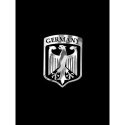 NAKLEJKA chromowana GERMANY auto tatuaż EMBLEMAT 1/06218
