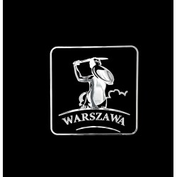 NAKLEJKA chromowana WARSZAWA auto tatuaż EMBLEMAT 1/06220