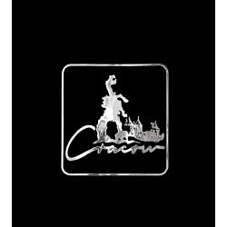 NAKLEJKA chromowana KRAKÓW auto tatuaż EMBLEMAT 1/06221