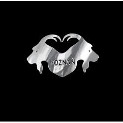 NAKLEJKA chromowana POZNAŃ auto tatuaż EMBLEMAT 1/06223