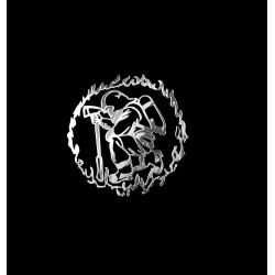 NAKLEJKA chromowana STRAŻAK auto tatuaż EMBLEMAT 1/06246