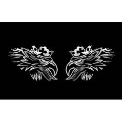 NAKLEJKA chromowana SCANIA auto tatuaż EMBLEMAT 1/06249