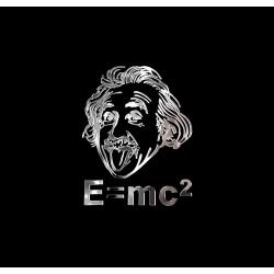 NAKLEJKA chromowana EMC2 EINSTEIN auto tatuaż EMBLEMAT...