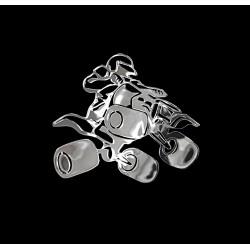 NAKLEJKA chromowana QUAD auto tatuaż EMBLEMAT 1/06255