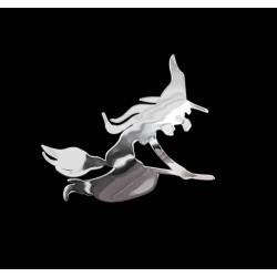 NAKLEJKA chromowana CZAROWNICA auto tatuaż EMBLEMAT 1/06256