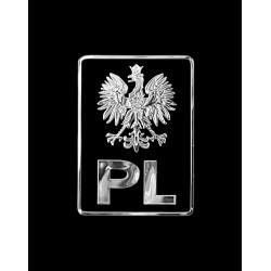 NAKLEJKA chromowana PL ORZEŁ auto tatuaż EMBLEMAT 1/06257