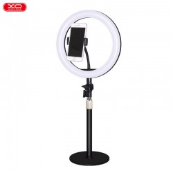 Stojak z lampą LED z uchwytem na telefon L03 czarny