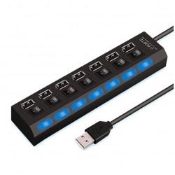 Rozdzielacz na 7 portów USB HUB USB 2.0