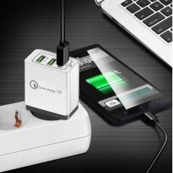 Szybka ładowarka sieciowa z 3 portami USB Quick Charge 3.0