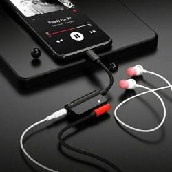 Przejściówka Lightning jack adapter audio 2w1 do iPhone