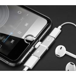 Przejściówka Lightning - 2x Lightning adapter audio do...