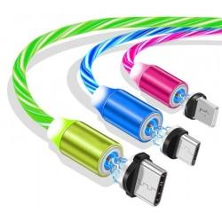 Świecący kabel magnetyczny do ładowania telefonu z 3...